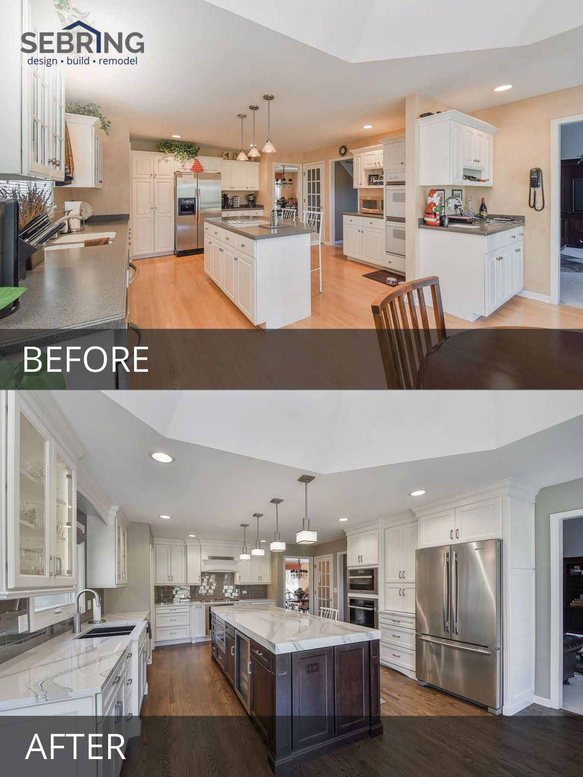 Naperville Kitchen Remodeling Before And After Pictures Sebring Design Build Remodelingbeforeandafter Home Remodeling