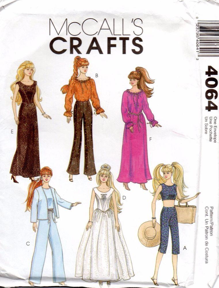 McCalls Crafts Sewing Pattern 4064 11.5\