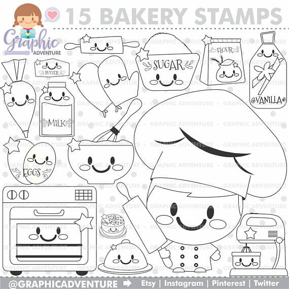 Chef Stamps Kitchen Stamps Bakery Stamps Commercial Use