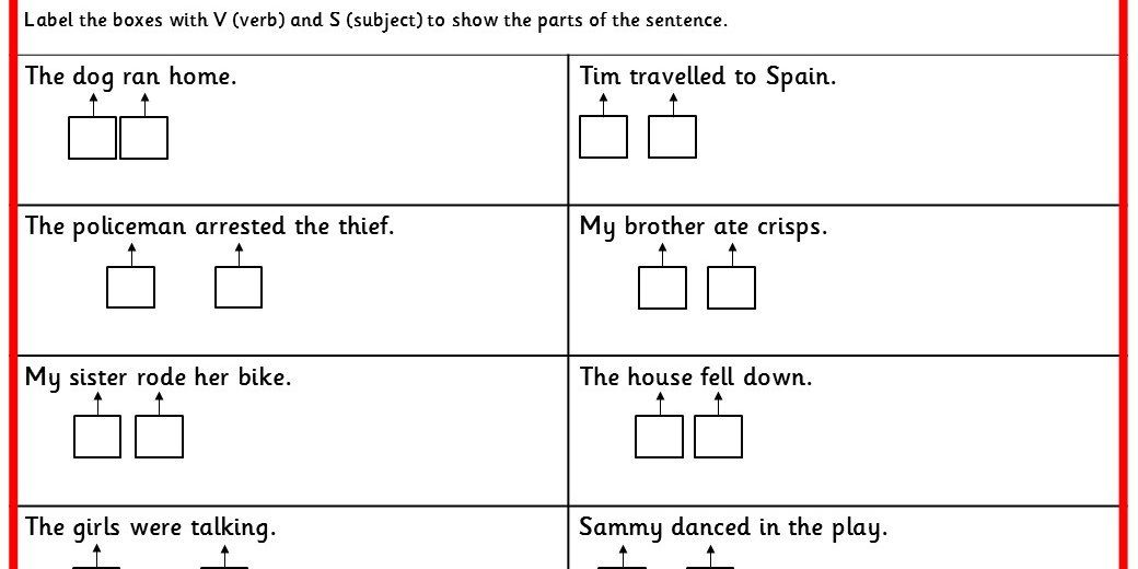 Three differentiated literacy activities labelling subject object three differentiated literacy activities labelling subject object and verb ks2 spag practice ccuart Choice Image