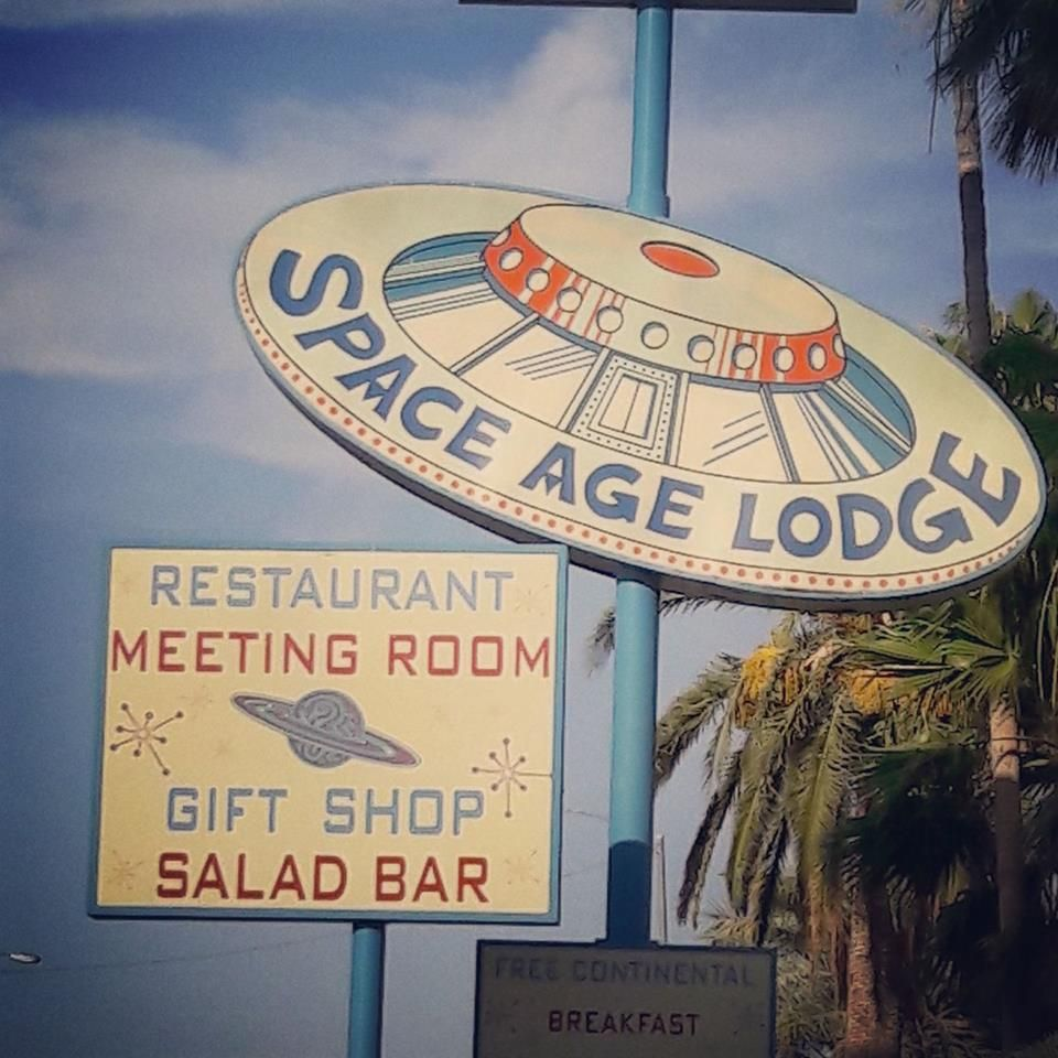 space age lodge Drive Ins and Neon Lights Continental