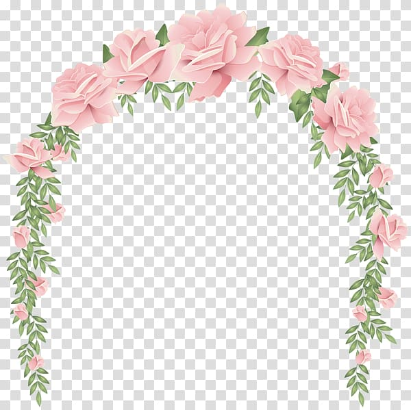 Pink Rose Flower Arch Wedding Invitation Design Transparent Background Png Clipart Flower Illustration Pink Rose Flower Rose Art Drawing