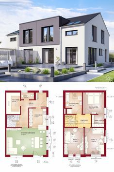 Modernes Doppelhaus CELEBRATION 139 V2 L