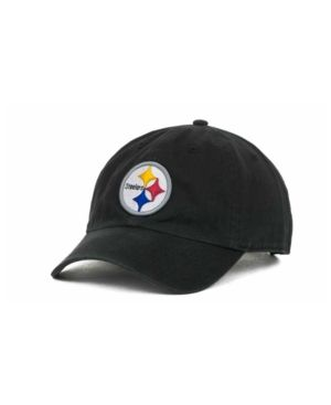 half off 54305 9418f  47 Brand Pittsburgh Steelers Clean Up Cap - Black.
