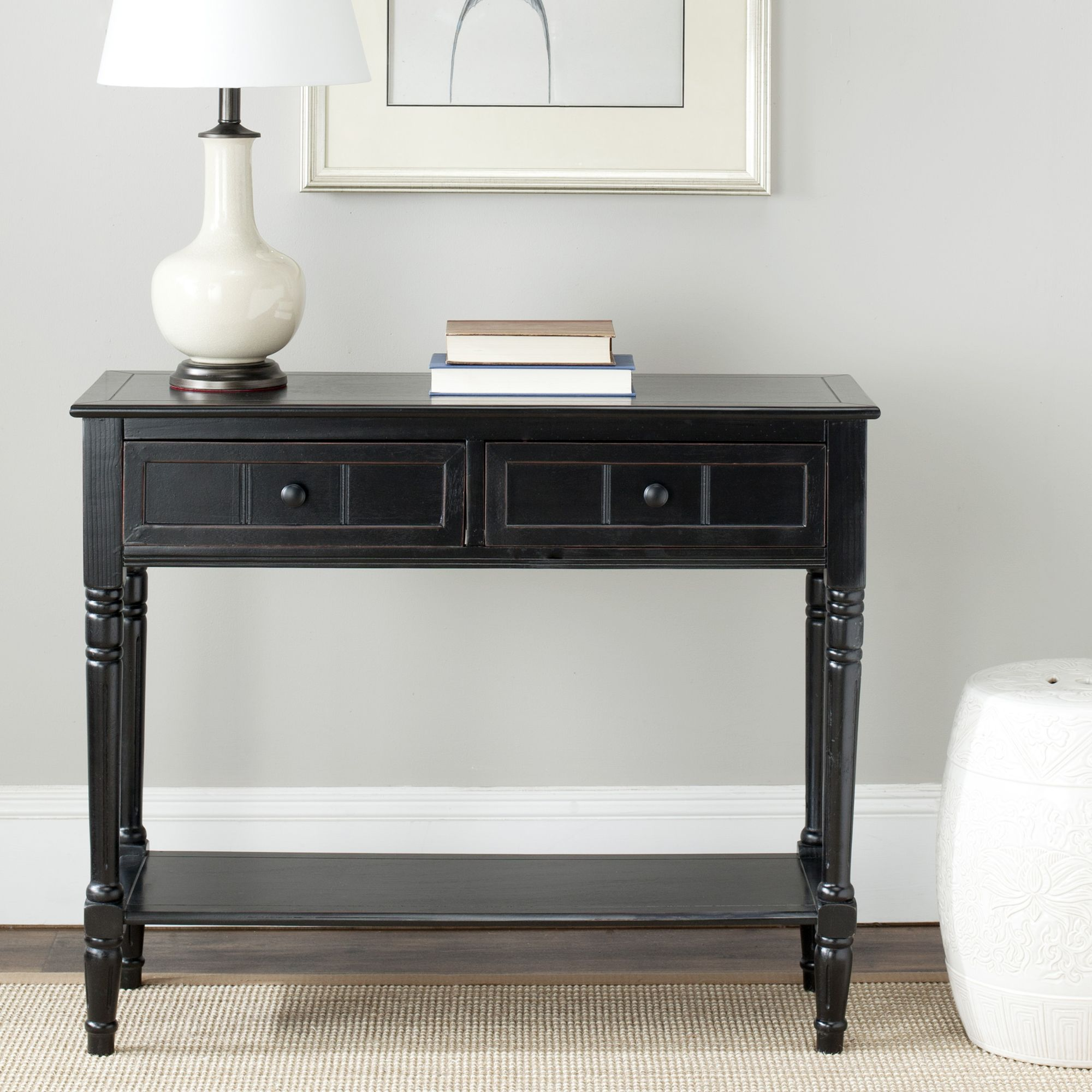 Dress up your entryway or any room of your home with this black