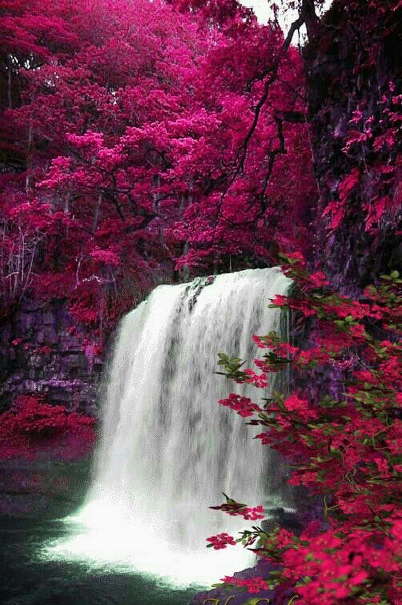 Autumn Waterfall Beautiful Waterfalls Nature Pictures Beautiful Landscapes