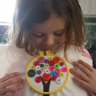 Sewing Buttons 101 {Teaching Kids to Sew}