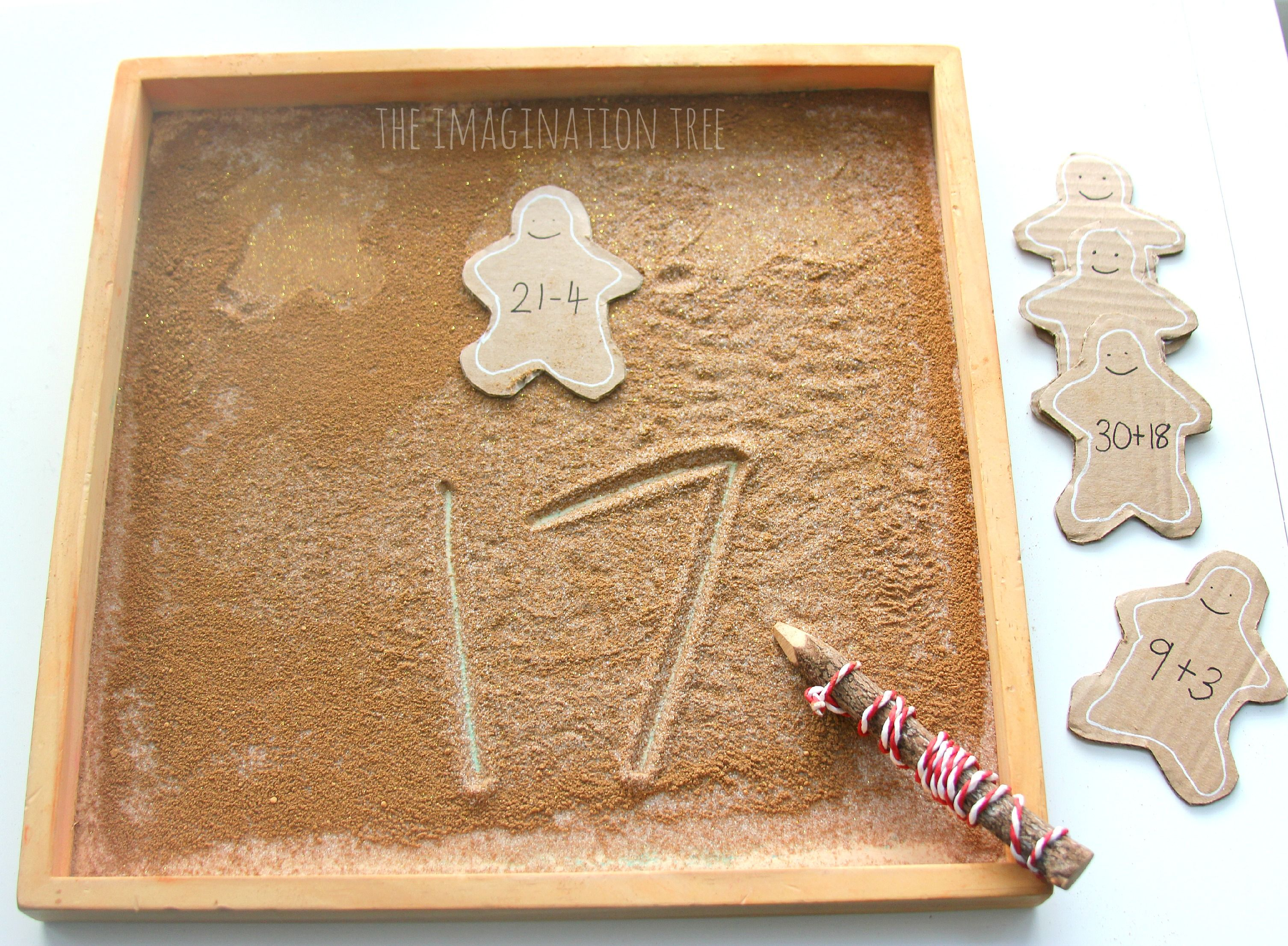 Gingerbread Sensory Writing Tray With Images