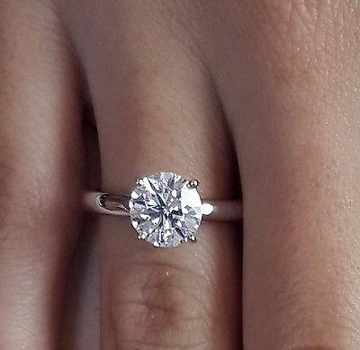 2.00 CT corte redondo Vs1 Diamante Solitario Anillo De Compromiso 14k Oro  Blanco in Joyería y relojes, Compromiso y boda, Anillos de compromiso   eBay b3437f81b4