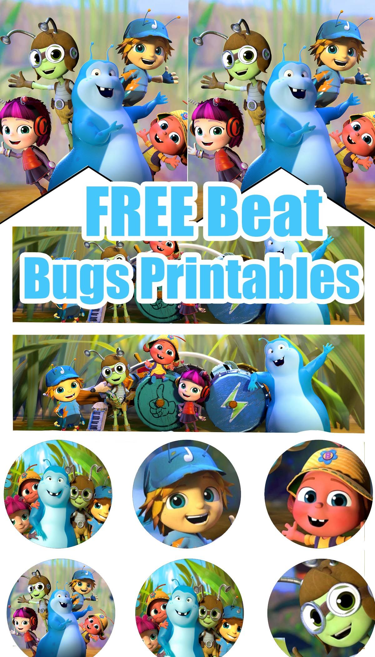 FREE Beat Bugs Birthday Party Printable Files