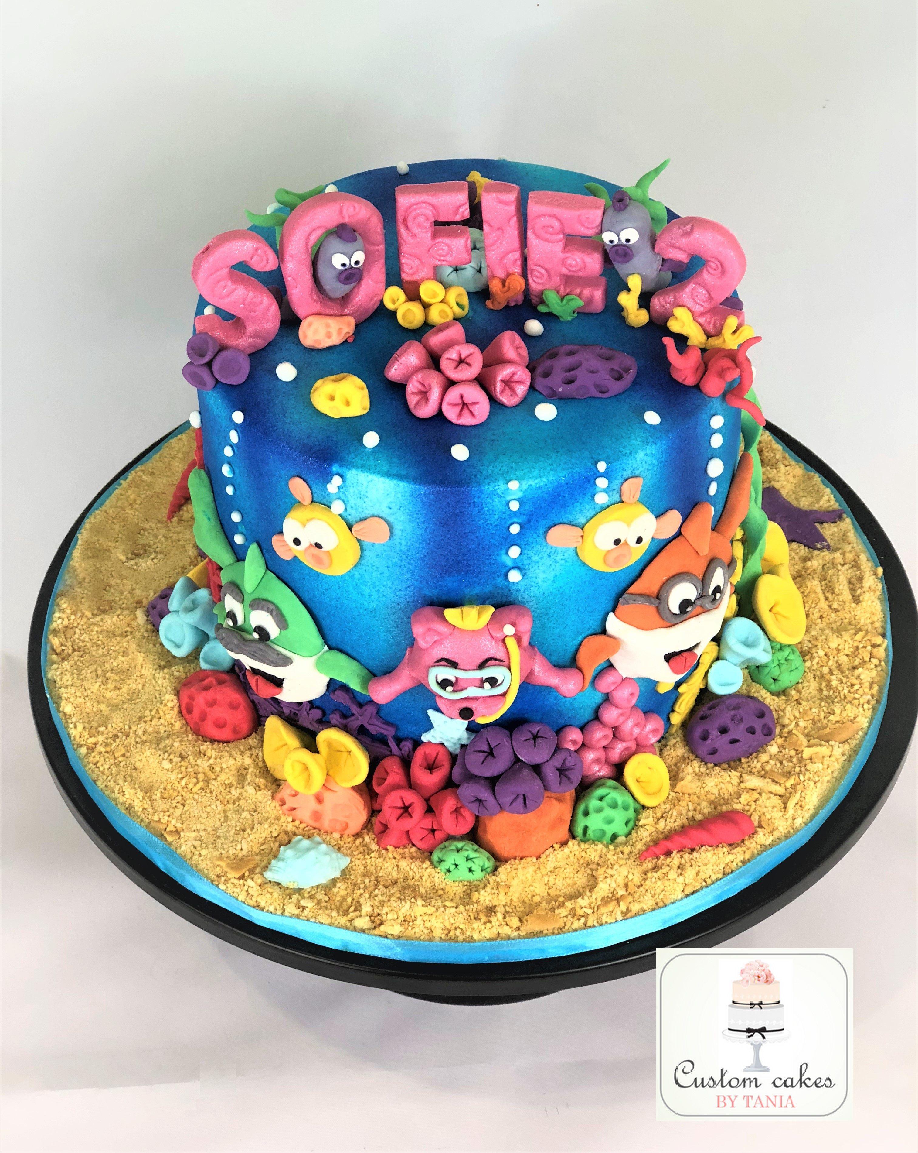 Baby shark cake cake batman cakes wiggles birthday