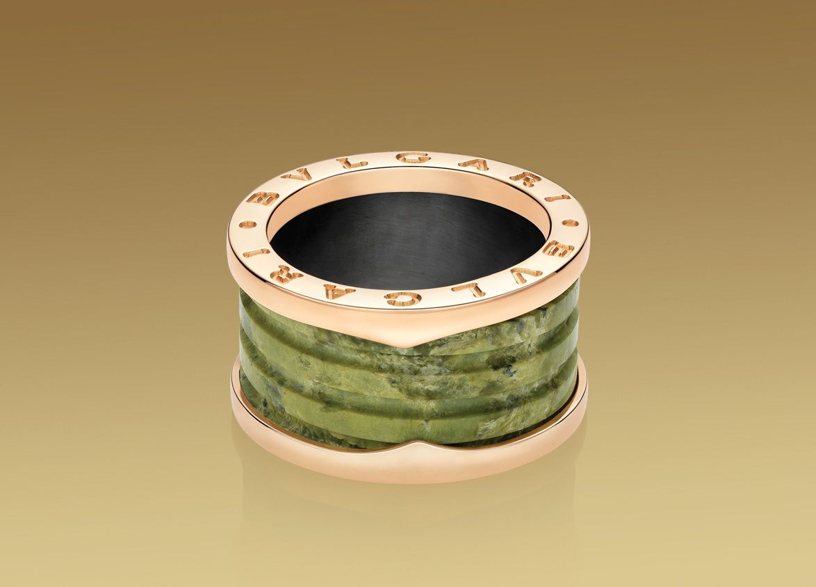 bulgari bzero1 collection marble jewelrypink gold