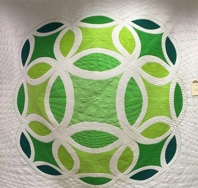 Quilting by Karen McTavish. Victoria Wolfe collaboration quilt.