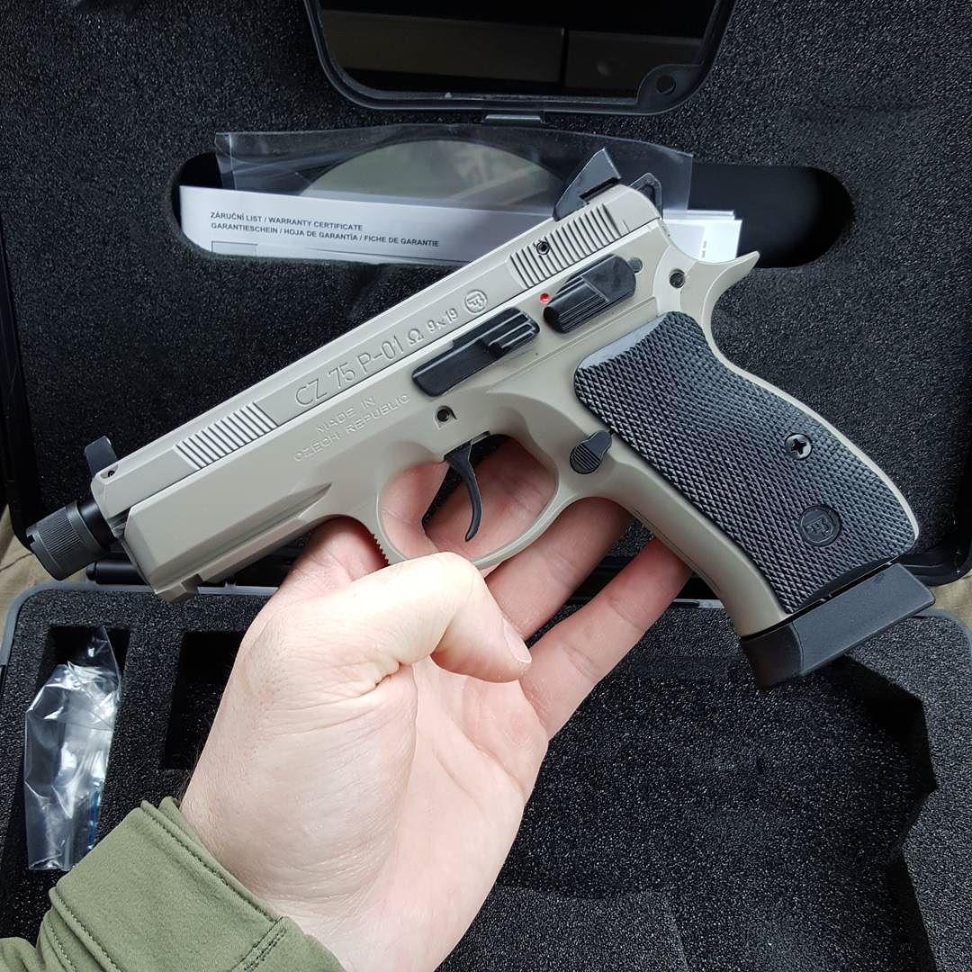 When @czusafirearms sends you a Urban Grey CZ 75 P-01
