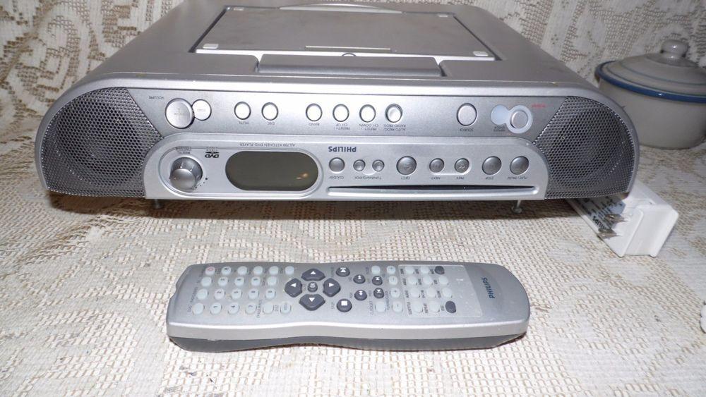 motorola phillips under counter am fm radio dvd cd clock w remote rh pinterest ca