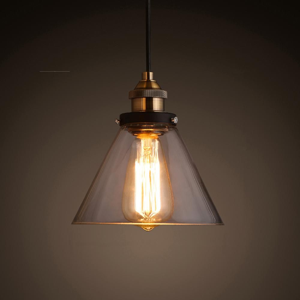 Edison zhuri collection light black clear glass indoor pendant