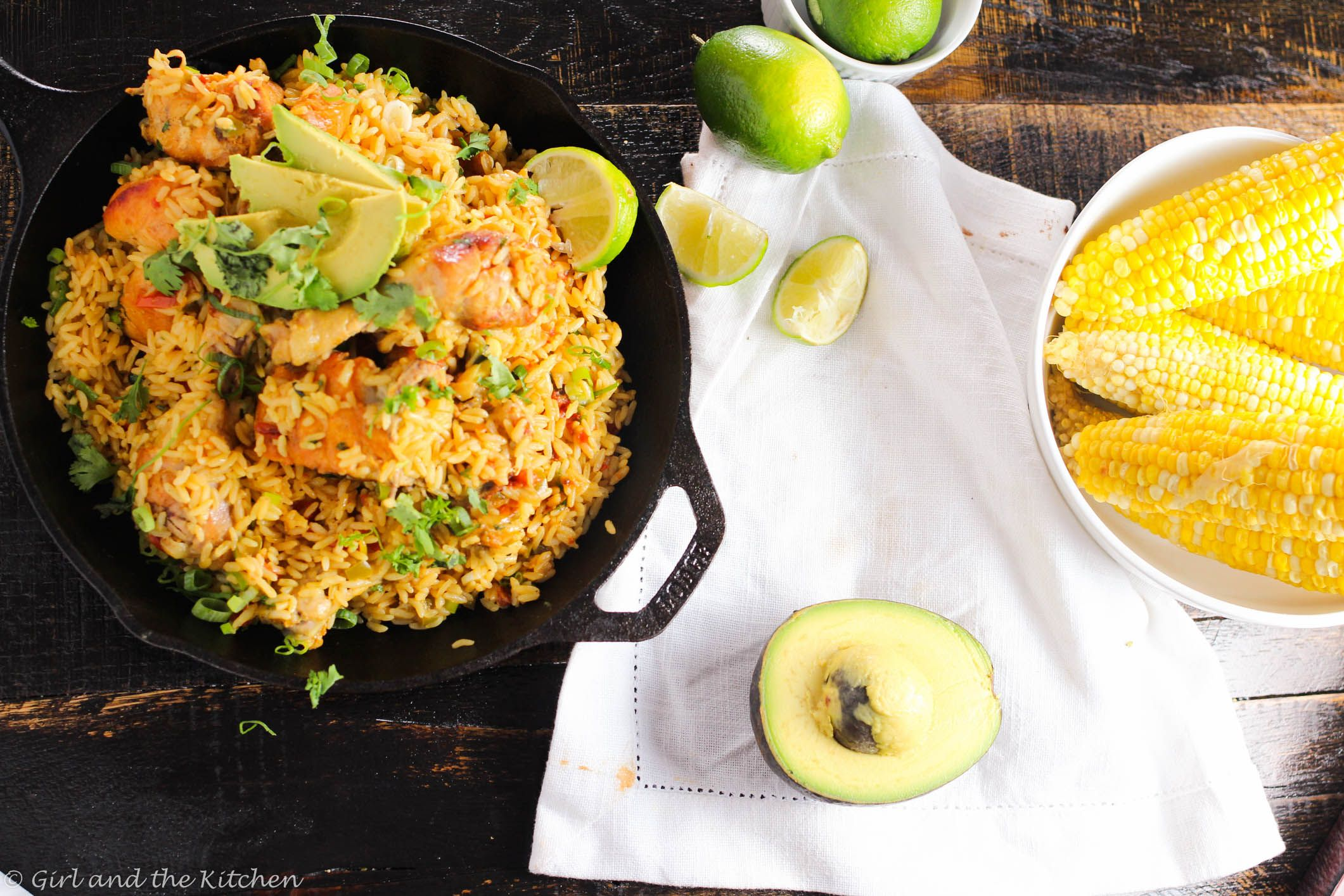 Arroz con Pollo is literally translated to Rice and Chicken in Spanish. Arroz con Pollo is popular among almost all Latin countries and it is a classic feel good meal for me. Full of aromatics, tender rice and succulent chicken on the bone, this dish is my go-to comfort food.