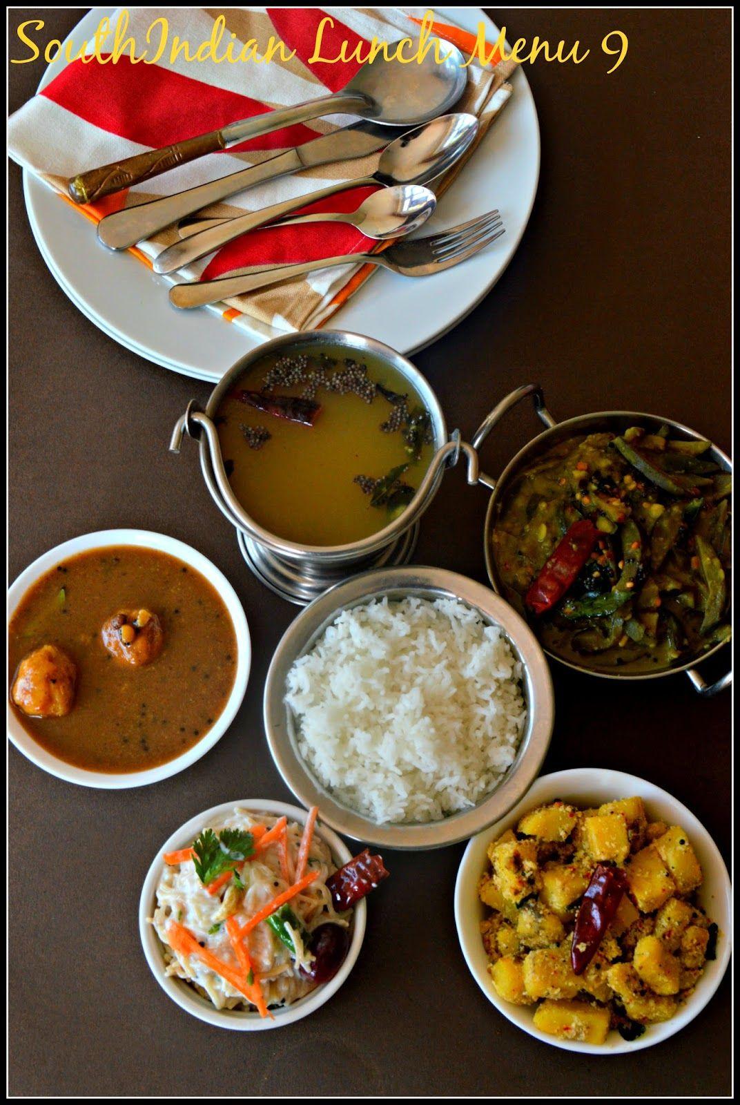 South Indian Lunch Menu 9 Paruppu Urundai Kuzhambu Mor Rasam Raw Banana Poriyal Brinjal Stew And Curd Semiya With Images Indian Food Recipes Full Meal Recipes Ayurvedic Recipes