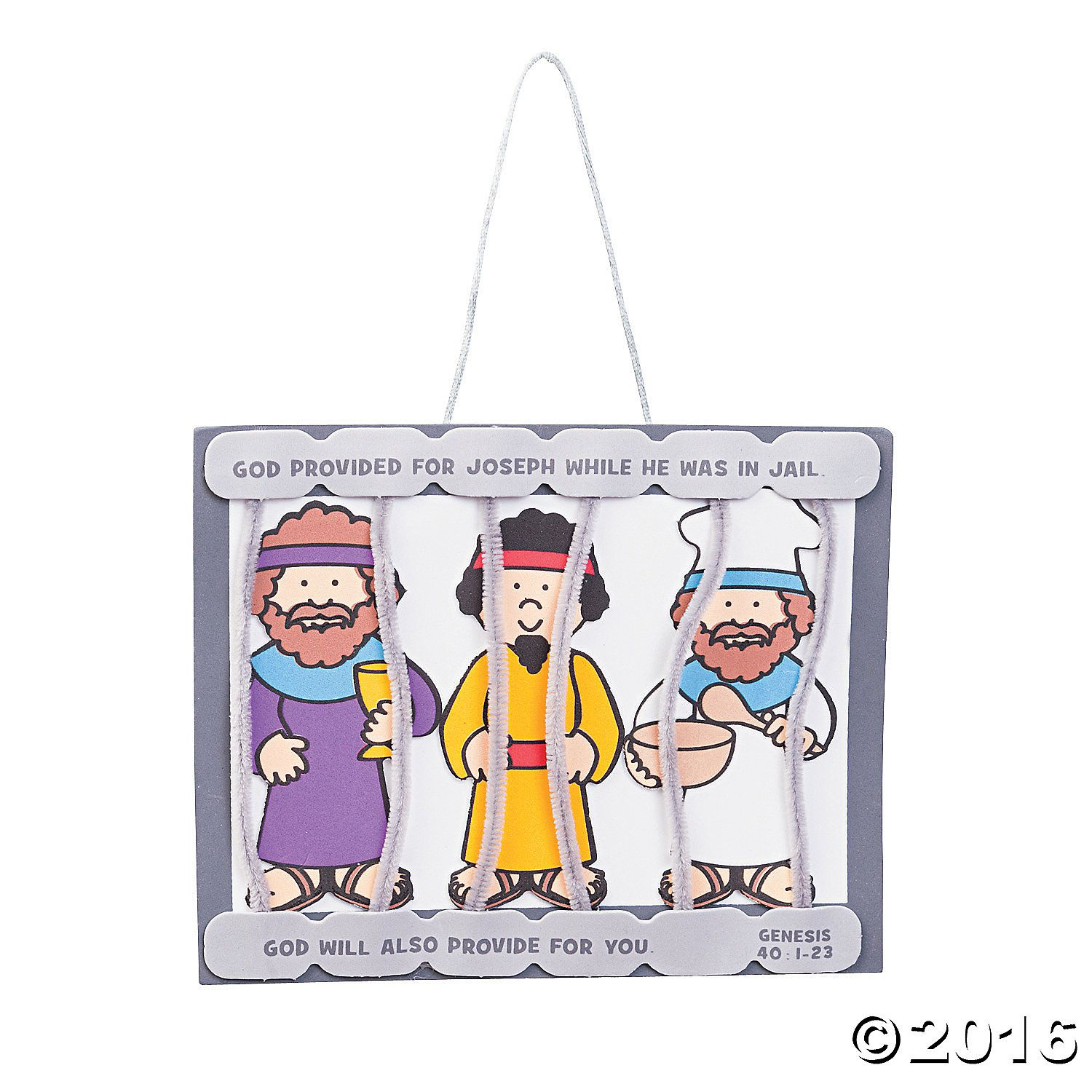 Joseph In Jail Sign Craft Kit