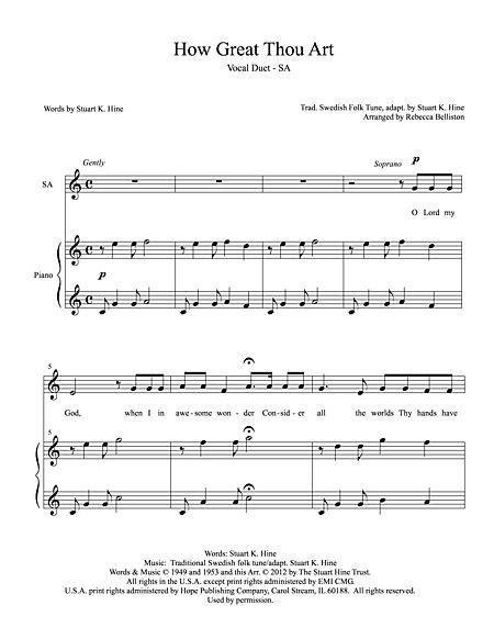 How Great Thou Art Hymn Lyrics Lds