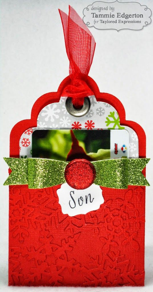 Taylored Expressions Spotlight Tag Pocket Christmas Gift Card