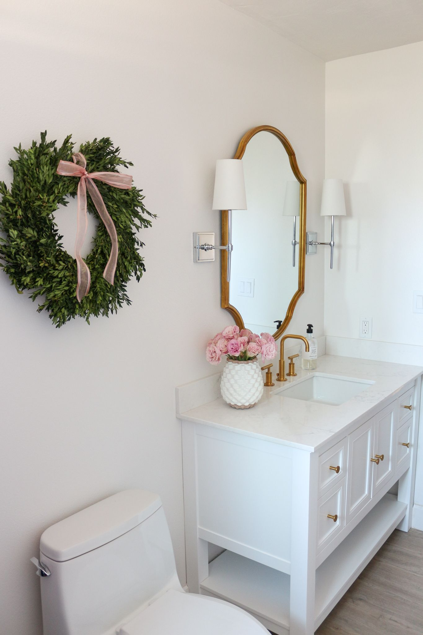 Bright White Chic Bathroom Renovation | Our New Home | Pinterest ...