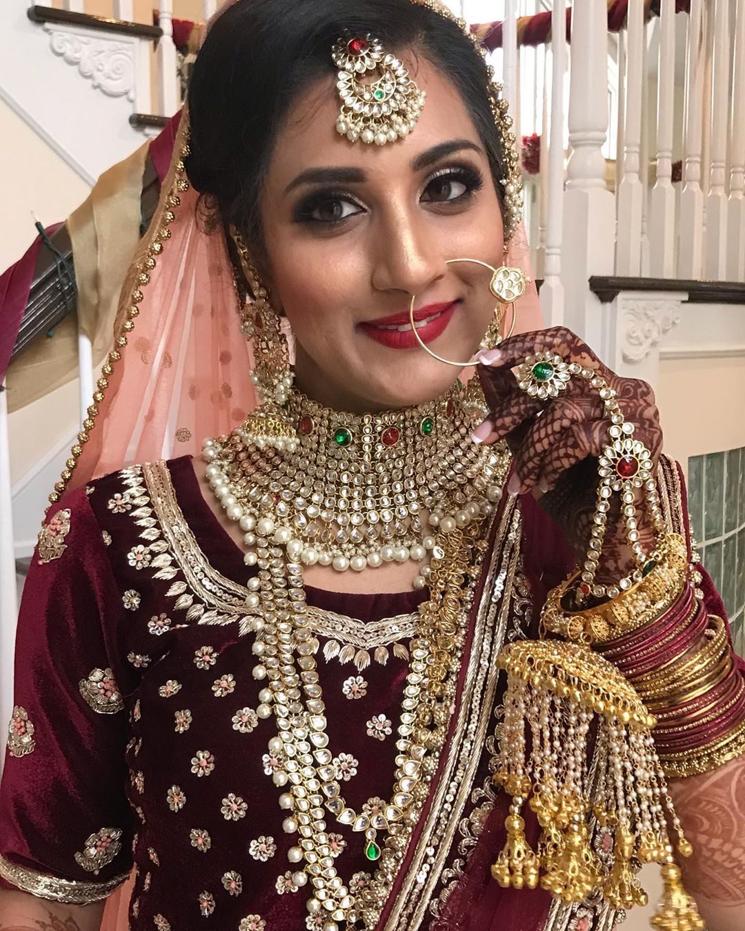 Indian Bride in US, ready for her Indian Wedding in USA