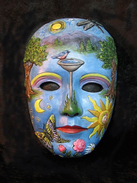 If You Could See Through Her Eyes Masks Art Mask Painting