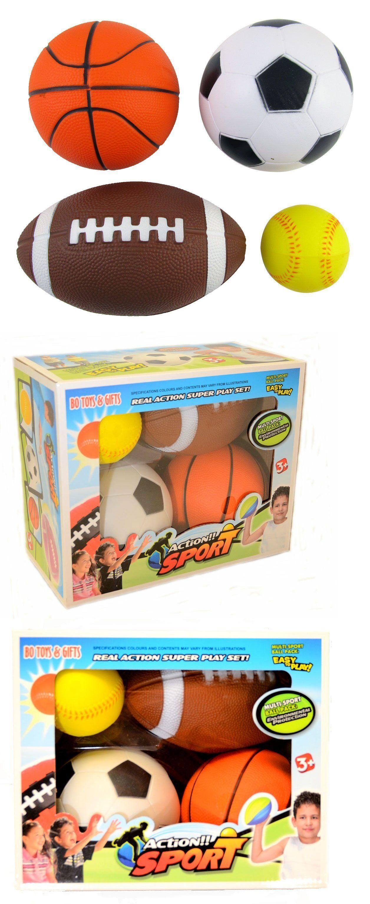 Set Of 4 Sports Balls For Kids Soccer Ball Basketball Football Tennis Ball Ebay Soccer Ball Kids Soccer Soccer