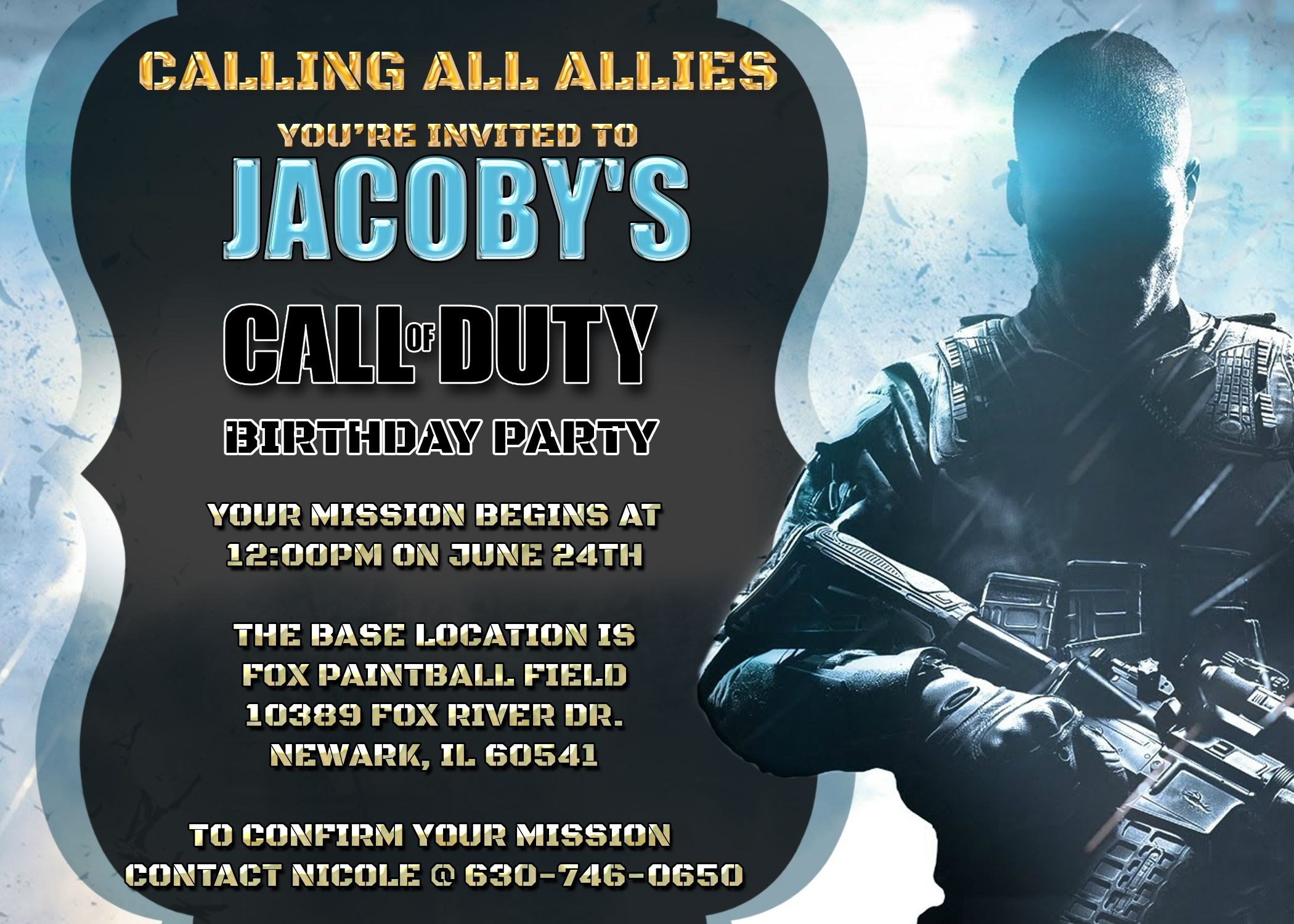 Call of duty invitation cod birthday party invite videogame invite call of duty invitation cod birthday party invite videogame invite editable printable filmwisefo Image collections