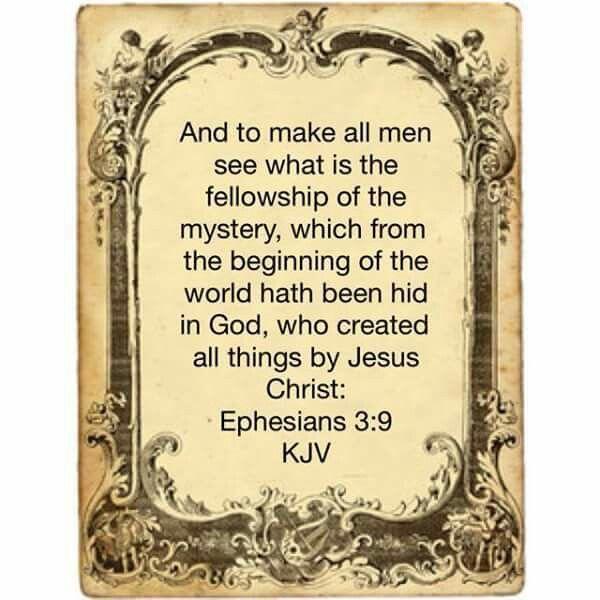 Image result for Ephesians 3:9 kjv