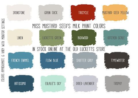 Miss Mustard Seed 39 S Milk Paint Colors Mms Milk Paint