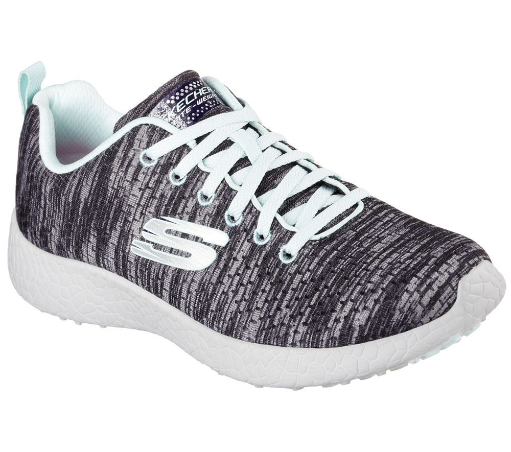 NEW! Skechers Women's Burst Shoes Charcoal  #12433 401R