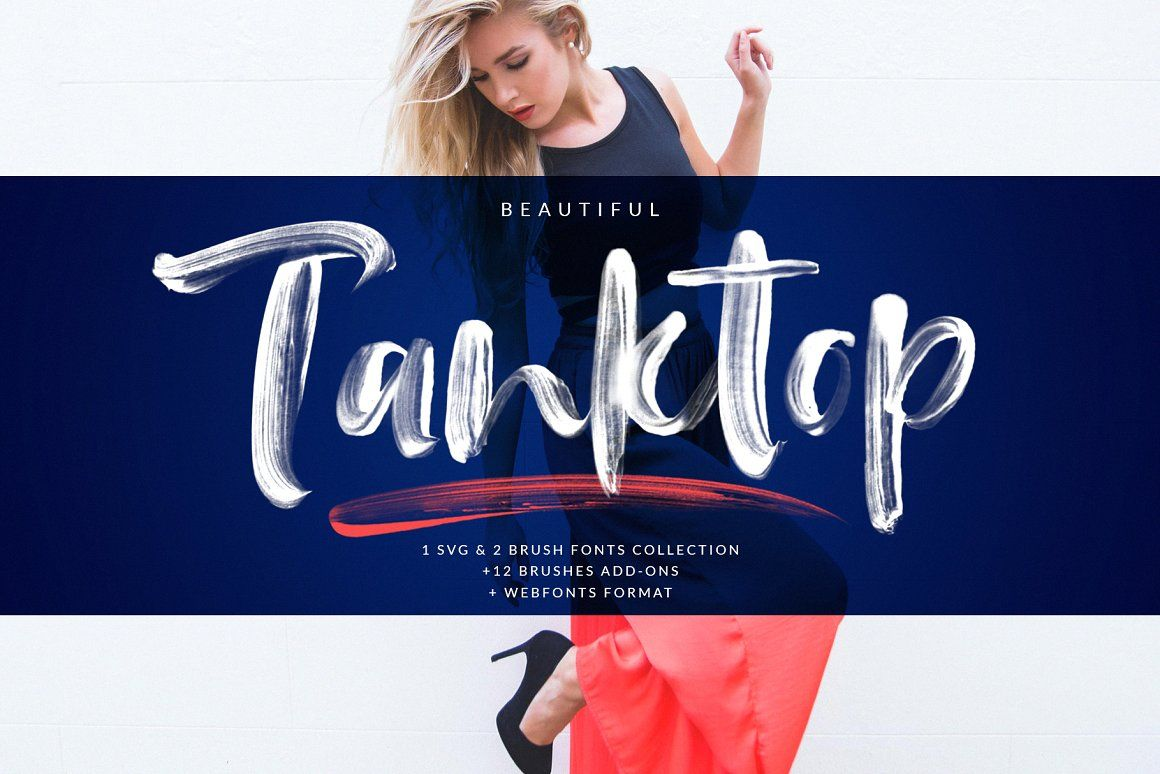 Tanktop Svg Brush Fonts Brush Font Brush Fonts Free Trending