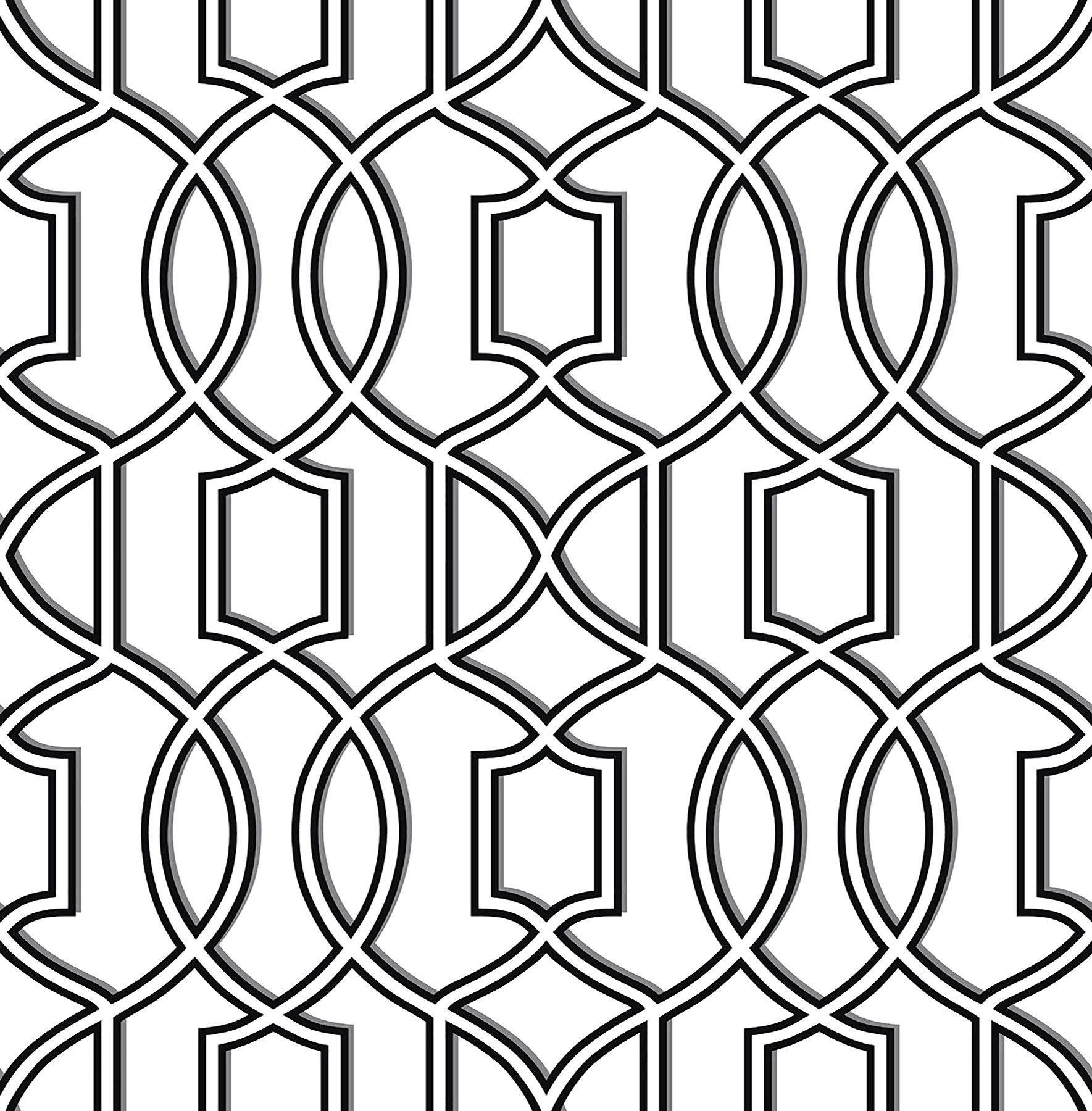 "Symetrie Quantum 33' x 20.5"" Trellis Wallpaper Trellis"