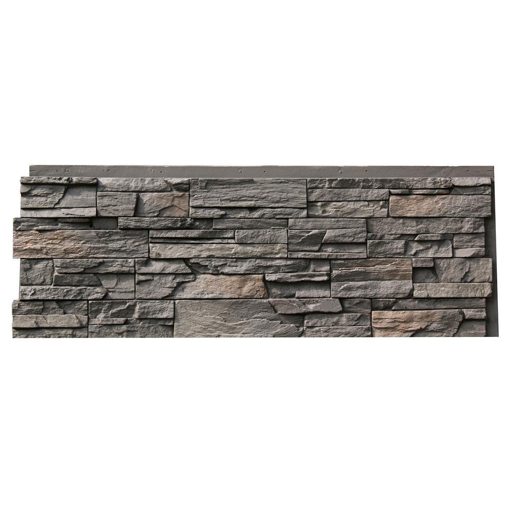 Nextstone Country Ledgestone 43 5 In X 15 5 In Faux Stone Siding Panel In Appalachian Gray 4 Pack Faux Stone Siding Stone Siding Panels Stone Siding