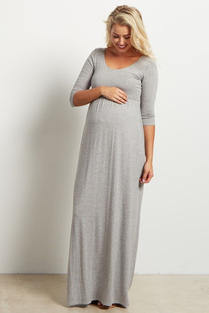 006ba9d43cd 13. Long maternity dresses for special occasions