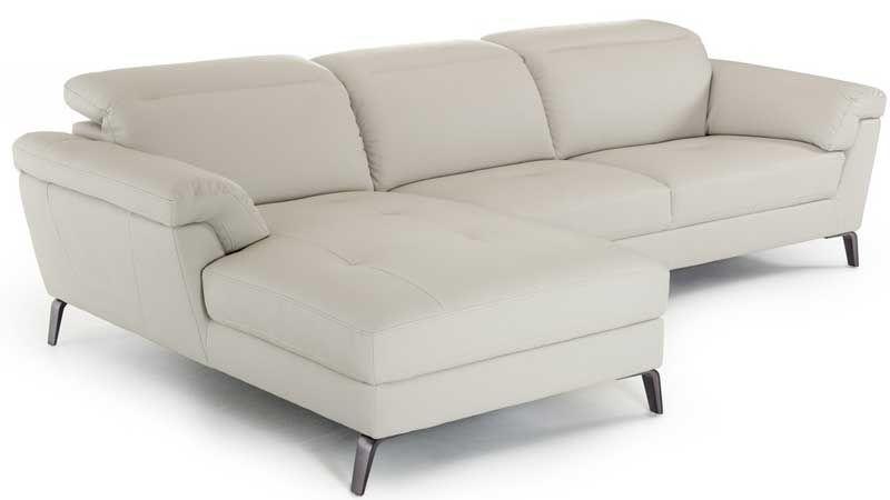 Cool The Divani Casa Edelweiss Modern Light Grey Eco Leather Beatyapartments Chair Design Images Beatyapartmentscom