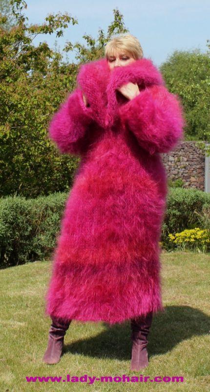 Mohair FUZZY SWEATER LONG DRESS L-XL