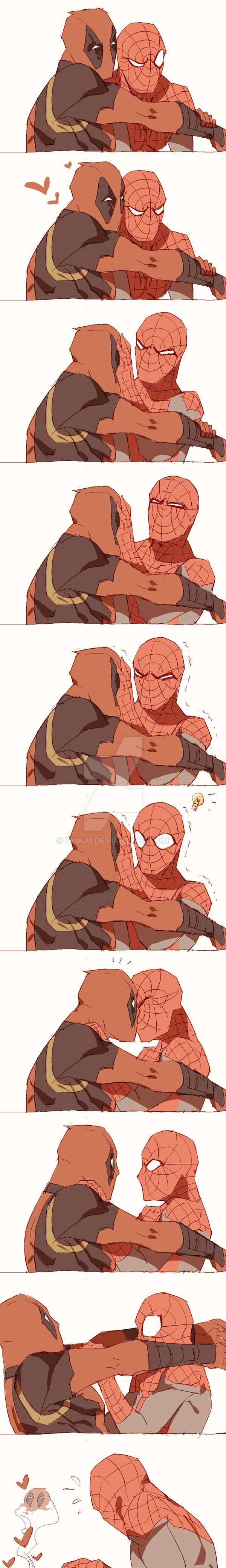 Super Hero Shirts Deadpool X Spiderman Deadpool And Spiderman Spideypool