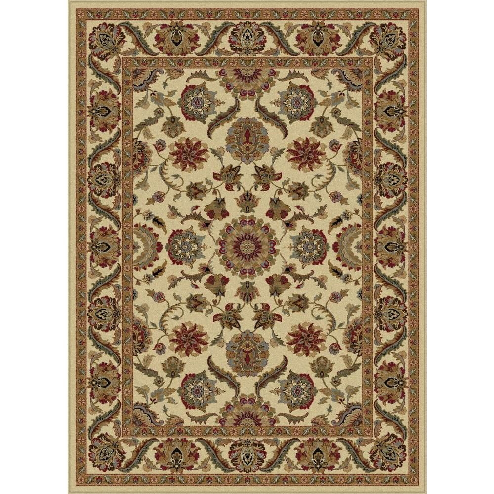 Tayse Rugs Sensation Ivory 8 Ft 9 In X 12 Ft 3 In Traditional