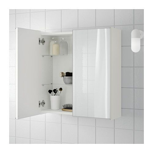 Lillangen Mirror Cabinet With 2 Doors White 23 5 8x8 1 4x25 1 4 Ikea In 2020 Mirror Cabinets White Bathroom Cabinets Bathroom Wall Storage Cabinets