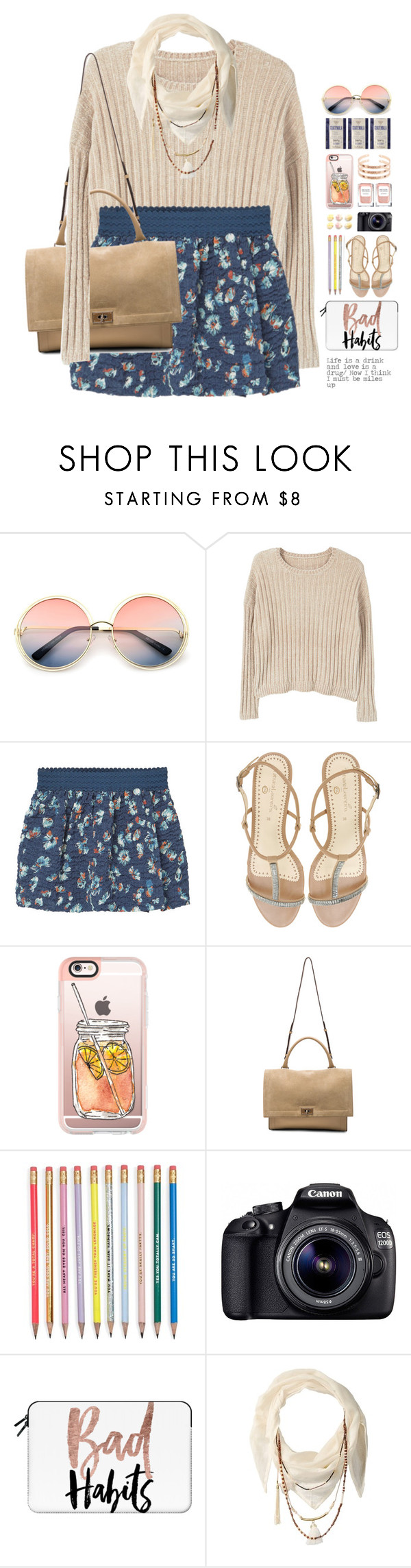 """*1684 (SCHOOLGIRL SERIES XI - SWEET SMARTIE)"" by cutekawaiiandgoodlooking ❤ liked on Polyvore featuring ZeroUV, MANGO, Casetify, Givenchy, Eos and BCBGeneration"