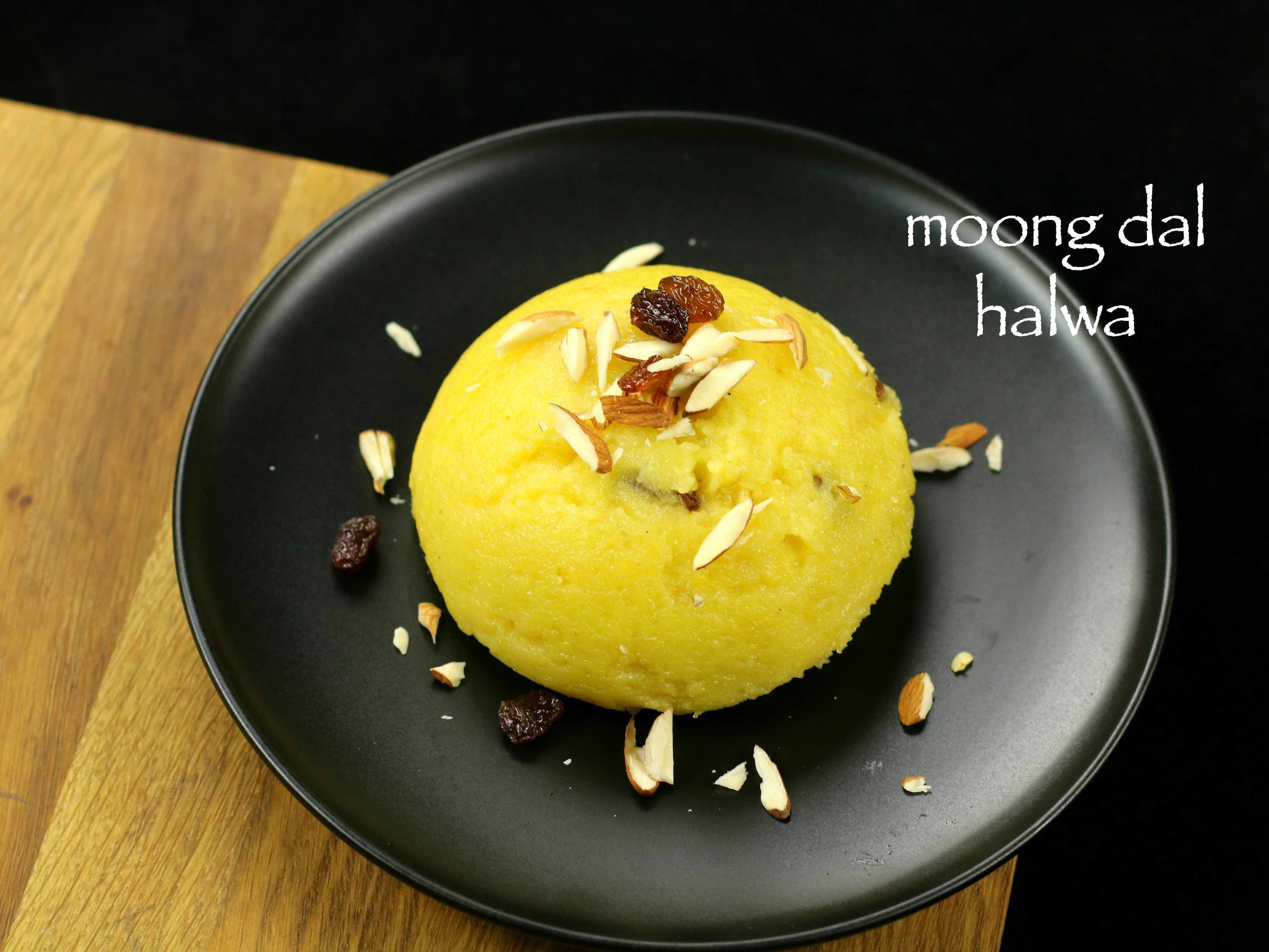 Moong dal halwa recipe moong dal sheera with step by step photo food forumfinder Images