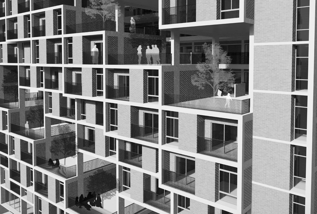 Affordable Housing For Lower Middle Income Group Winning Entry Affordable Housing Contemporary Architecture Capacity Building
