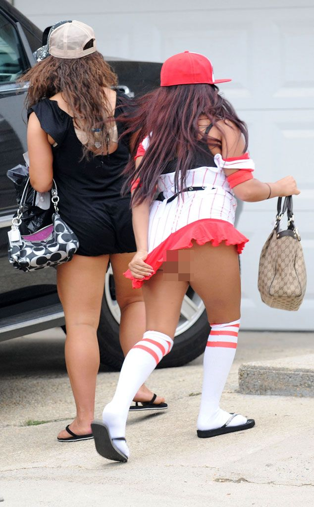 Snooki from Celeb Wardrobe Malfunctions The MTV reality star accidentally  bared her butt on her way back to the Jersey Shore house.