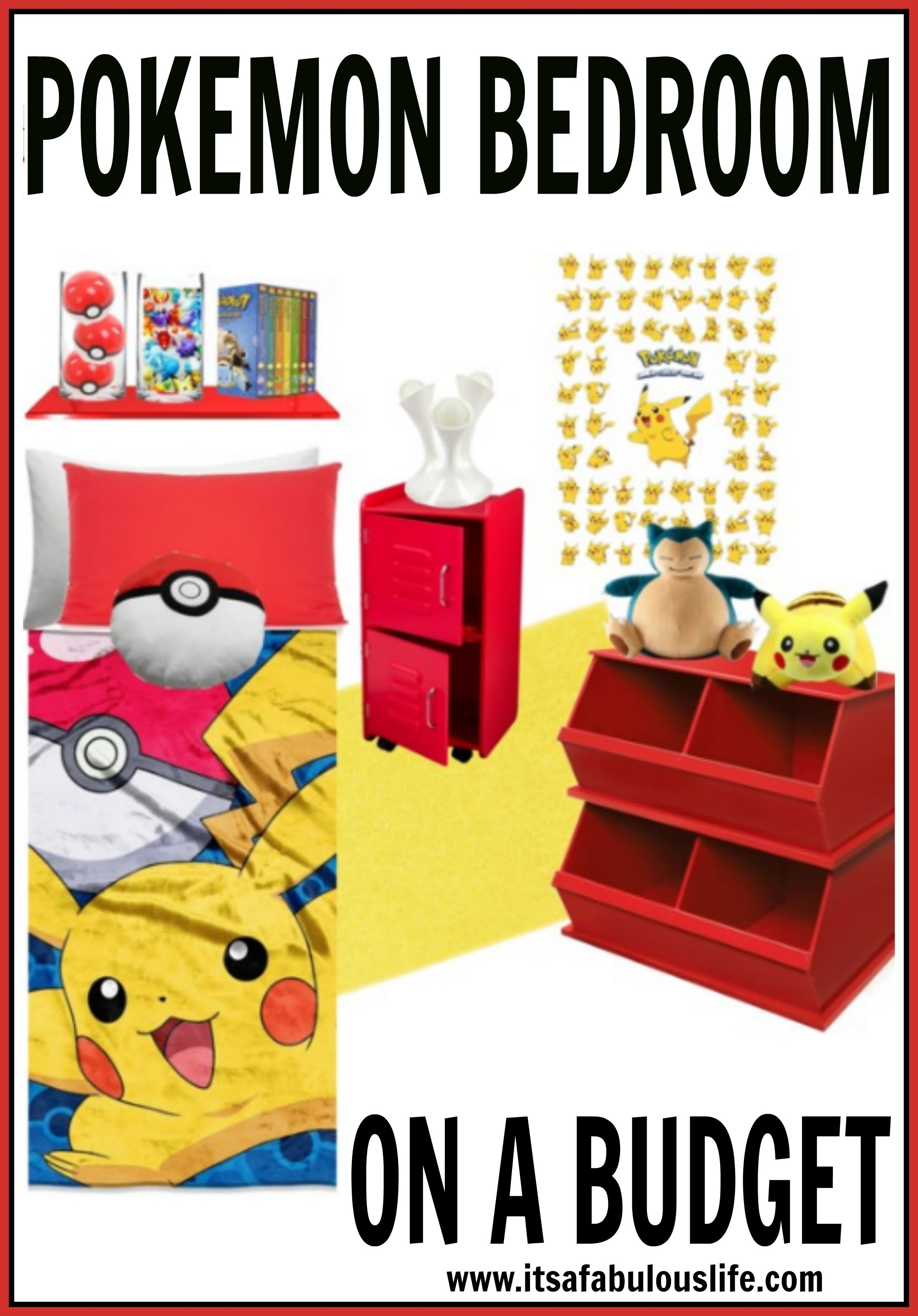 Pokemon Bedroom Ideas On A Budget | Pokémon, Budgeting and Bedrooms