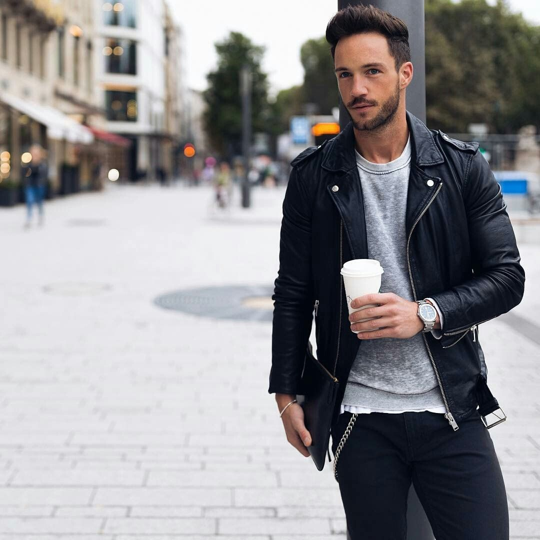 How To Wear Leather Jacket For Men I Love Wearing Leather Jackets However The Weather Of The Place I Li Leather Jacket Men Leather Jacket Jackets Men Fashion [ 1080 x 1080 Pixel ]