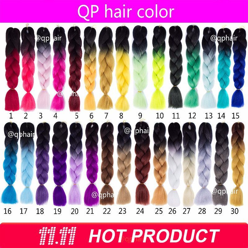 Hair Extension 60 color Ombre expression Two Tone Kanekalon