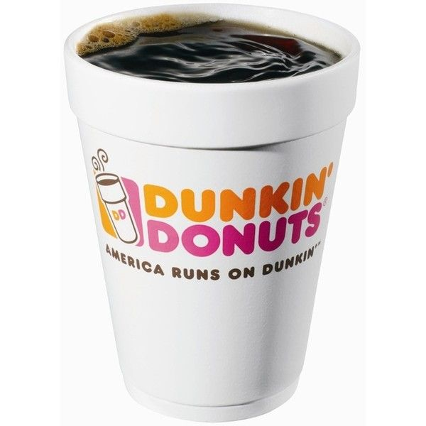 Dunkin Donuts Coffee Liked On Polyvore Featuring Food